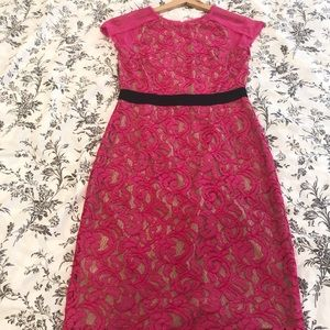 BCBG Maxazria Pink Lace Dress